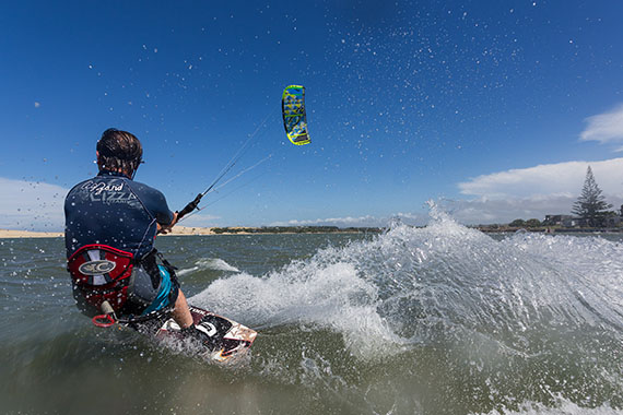 Extreme sport - Kite Boarding with Eric Duggan.